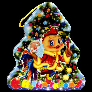 Новогодний подарок Ёлочка стоимостью 650 руб. и весом 800 гр.