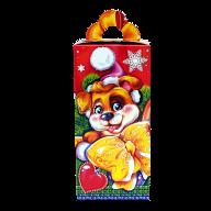 Новогодний подарок Щенок Бантик стоимостью 200 руб. и весом 450 гр.
