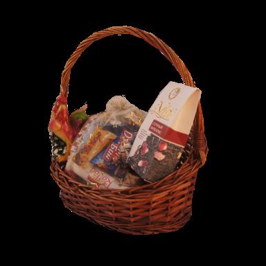 Новогодний подарок Корзина стоимостью 1000 руб. и весом 800 гр.