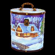 Новогодний подарок Туес большой стоимостью 2500 руб. и весом 1500 гр.