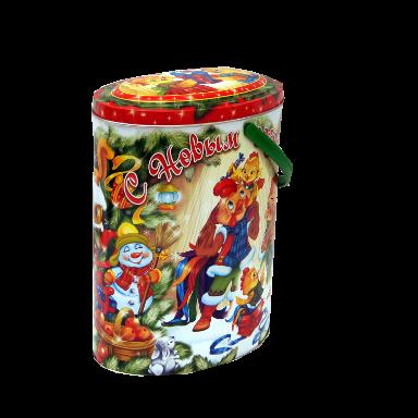 Новогодний подарок Курочкины стоимостью 700 руб. и весом 900 гр.