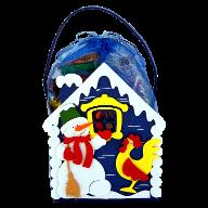 Новогодний подарок Домик Снеговика стоимостью 450.00000 руб. и весом 500 гр.