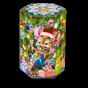 Новогодний подарок Мышки-шалунишки стоимостью 900 руб. и весом  гр.