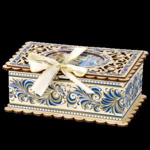Новогодний подарок Шкатулка Кружева стоимостью 1400.00000 руб. и весом 800 гр.