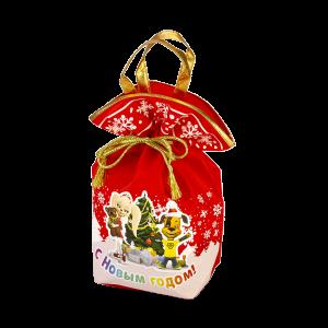 Новогодний подарок Мешок со сладостями Барбоскины стоимостью 650 руб. и весом 900 гр.