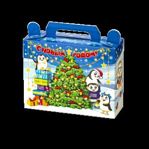 Новогодний подарок Пингвины стоимостью 155 руб. и весом  гр.
