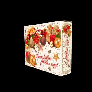 Новогодний подарок Открытка стоимостью 700 руб. и весом 800 гр.