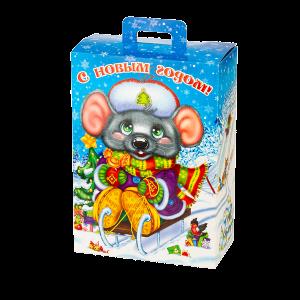 Новогодний подарок Саночки стоимостью 500 руб. и весом 900 гр.