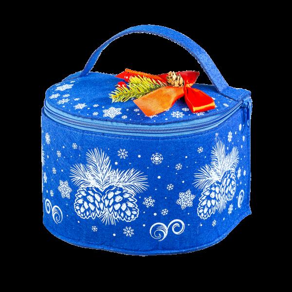 Новогодний подарок Шкатулка Снежная  стоимостью 1400 руб. и весом 1000 гр.