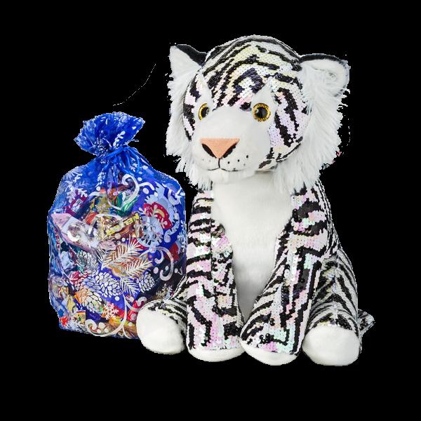 Новогодний подарок Тайган стоимостью 1800 руб. и весом 1000 гр.