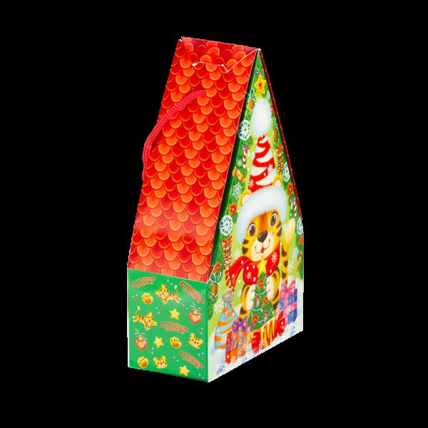 Новогодний подарок Домик тигрят стоимостью 430 руб. и весом 600 гр.