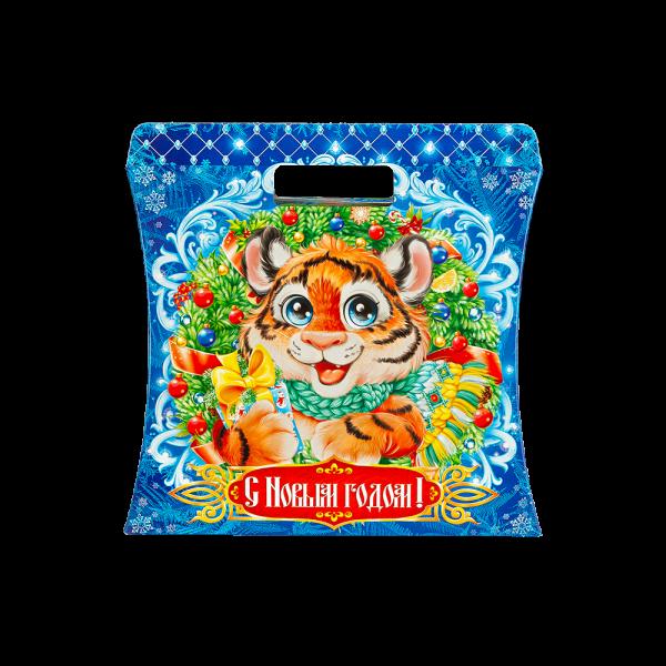 Новогодний подарок Сумочка тигруля стоимостью 590 руб. и весом 1000 гр.