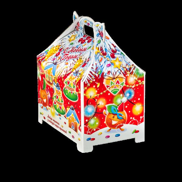 Новогодний подарок Ириска стоимостью 510 руб. и весом 900 гр.
