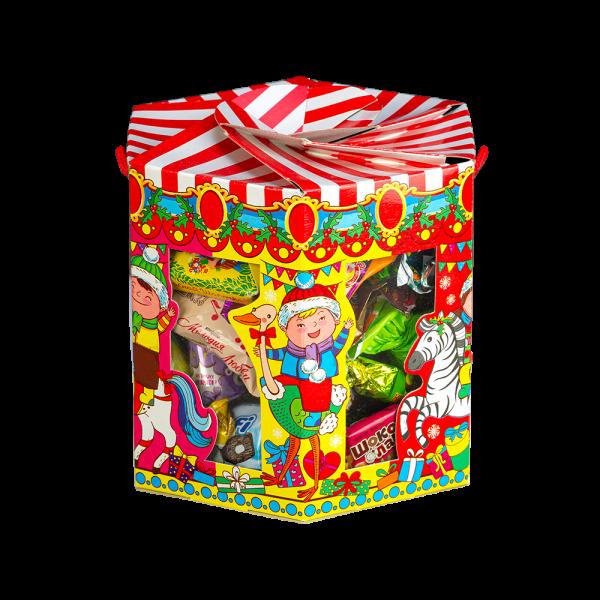 Новогодний подарок Веселый аттракцион стоимостью 460 руб. и весом 800 гр.