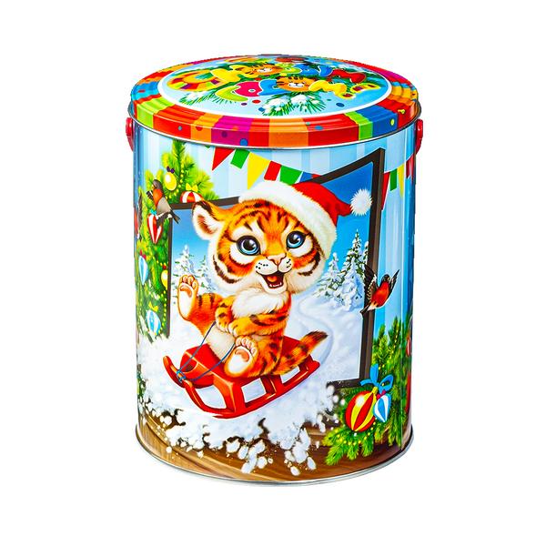Новогодний подарок Саночки стоимостью 680 руб. и весом 900 гр.