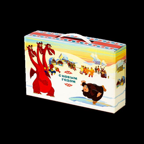 Новогодний подарок Богатыри на льду стоимостью 630 руб. и весом 1300 гр.