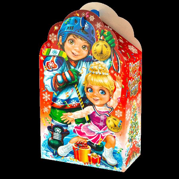 Новогодний подарок Зимний спорт стоимостью 230 руб. и весом 600 гр.