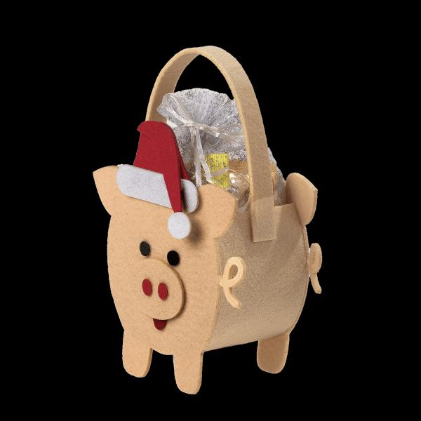 Новогодний подарок Сумочка из фетра стоимостью 300 руб. и весом 400 гр.