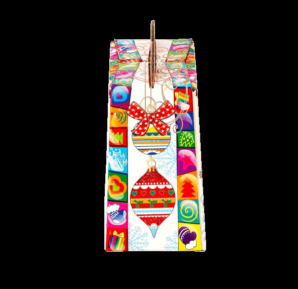 Новогодний подарок Конфетти яркое стоимостью 350 руб. и весом 650 гр.