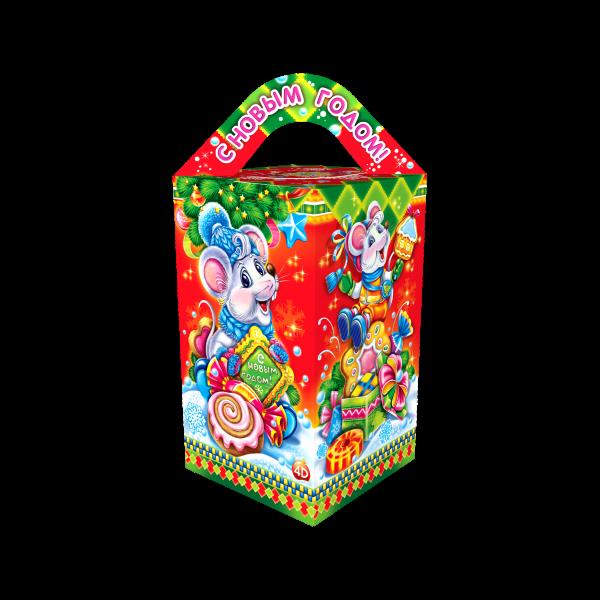 Новогодний подарок Сладкая фантазия стоимостью 350 руб. и весом 650 гр.