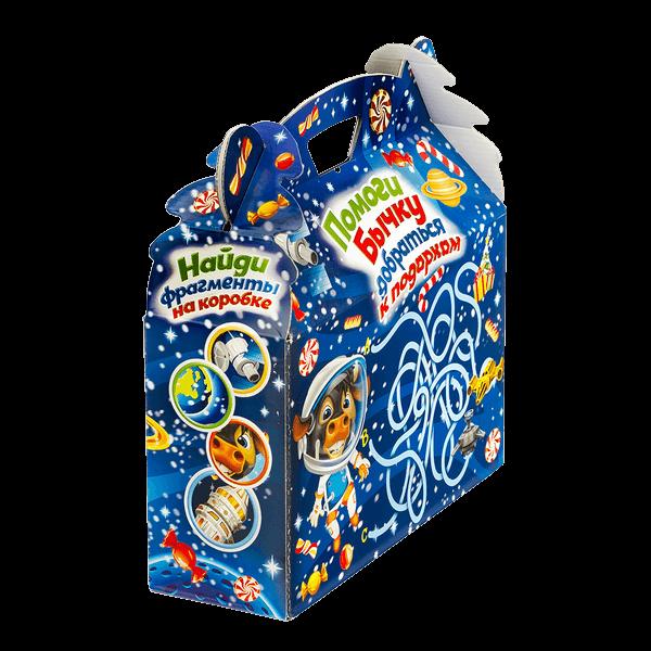 Новогодний подарок Космонавт стоимостью 450 руб. и весом 900 гр.