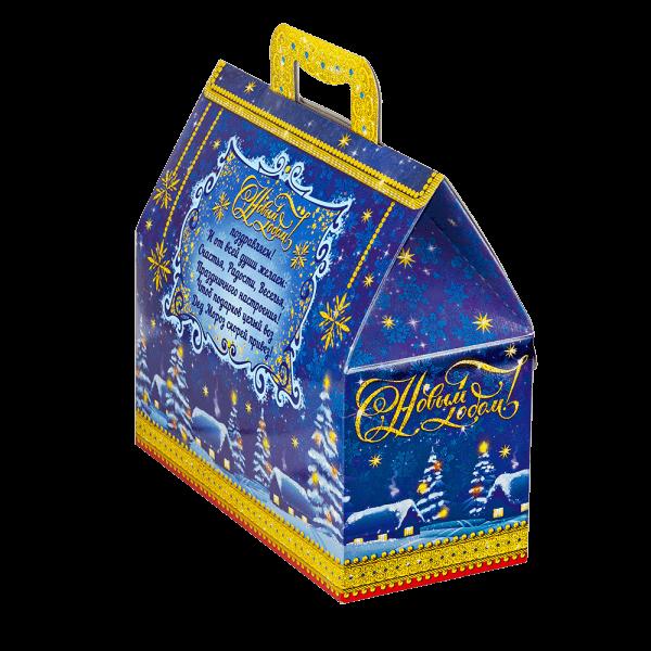 Новогодний подарок Ларец Зимняя ночь стоимостью 500 руб. и весом 700 гр.