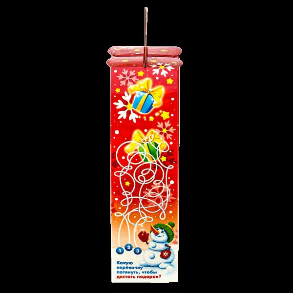 Новогодний подарок Лыжник стоимостью 300 руб. и весом 600 гр.