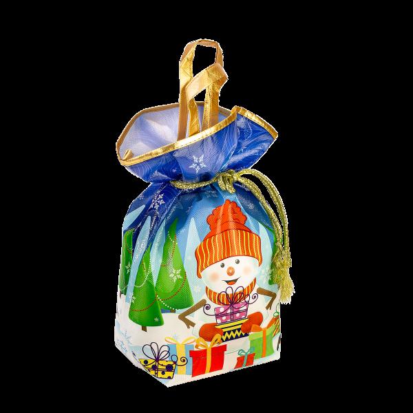 Новогодний подарок Мешок Снеговик стоимостью 600 руб. и весом 800 гр.