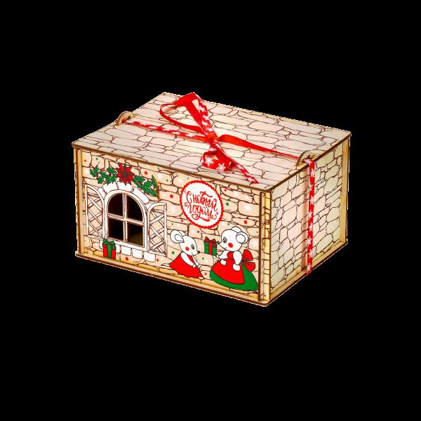 Новогодний подарок Мышкин дом стоимостью 1400 руб. и весом 800 гр.