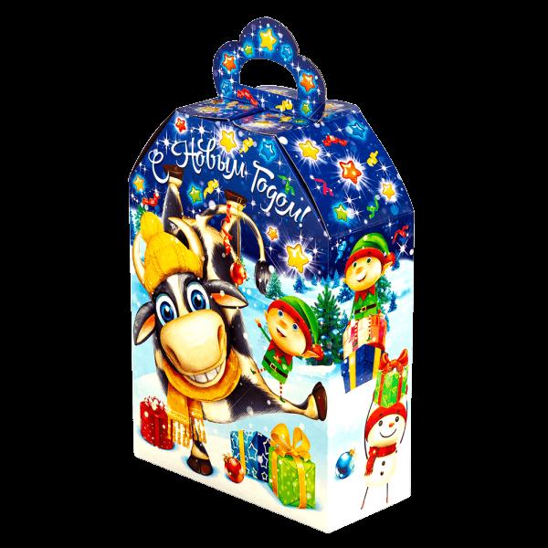 Новогодний подарок Зимние забавы стоимостью 350 руб. и весом 700 гр.