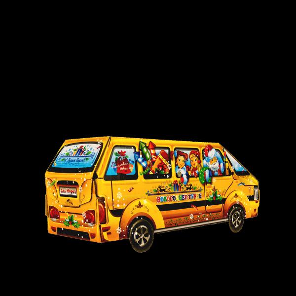Новогодний подарок Новогодний микроавтобус стоимостью 500 руб. и весом 1000 гр.