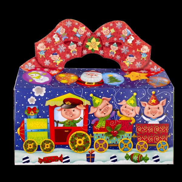Новогодний подарок Паровозик стоимостью 300 руб. и весом 600 гр.