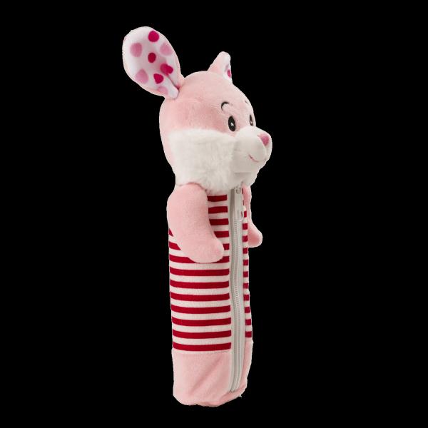 Новогодний подарок Пенал Зайчонок стоимостью 350 руб. и весом 200 гр.