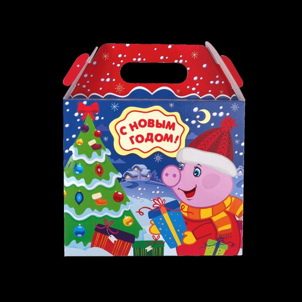 Новогодний подарок Пеппи стоимостью 450 руб. и весом 900 гр.