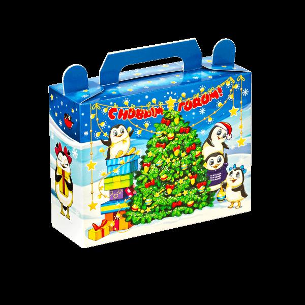 Новогодний подарок Пингвины стоимостью 140 руб. и весом 400 гр.