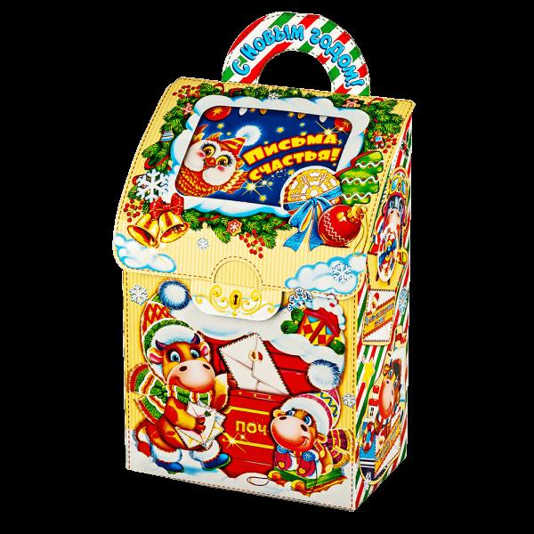 Новогодний подарок Почта счастья стоимостью 350 руб. и весом 700 гр.