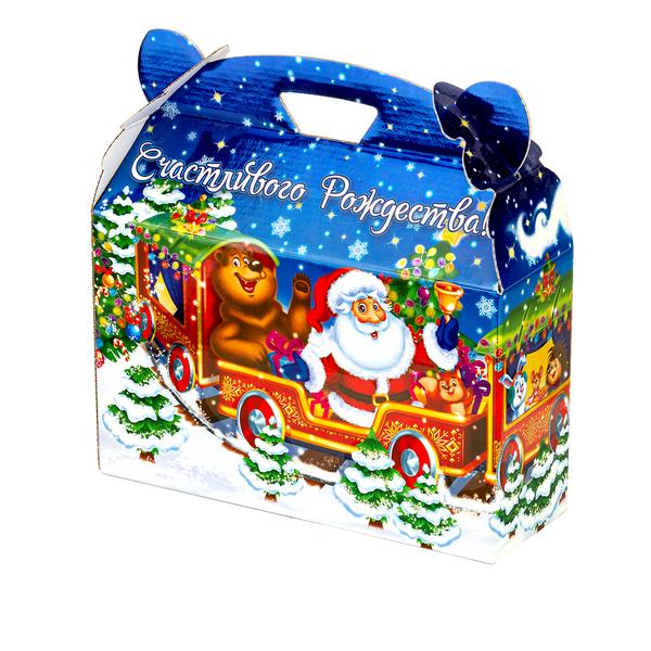 Новогодний подарок Полярный экспресс стоимостью 900 руб. и весом 1200 гр.