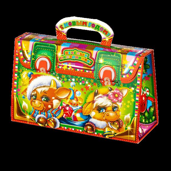 Новогодний подарок Чемоданчик новогодний стоимостью 270 руб. и весом 550 гр.