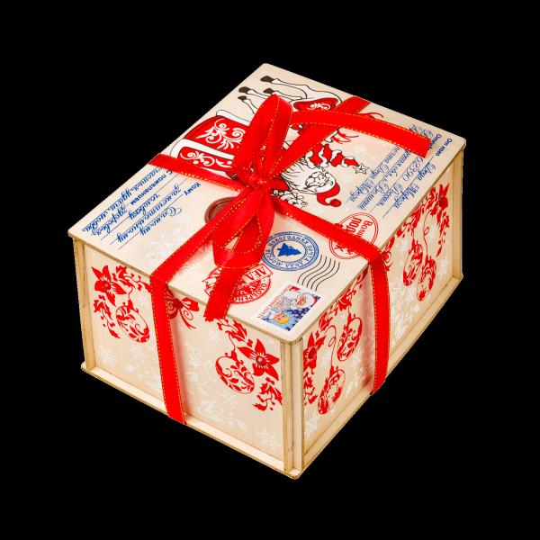 Новогодний подарок Посылка стоимостью 1300 руб. и весом 1000 гр.