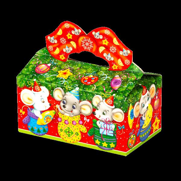Новогодний подарок Рукавички стоимостью 250 руб. и весом 450 гр.