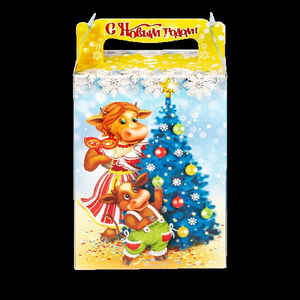 Новогодний подарок Вокруг елки стоимостью 300 руб. и весом 600 гр.