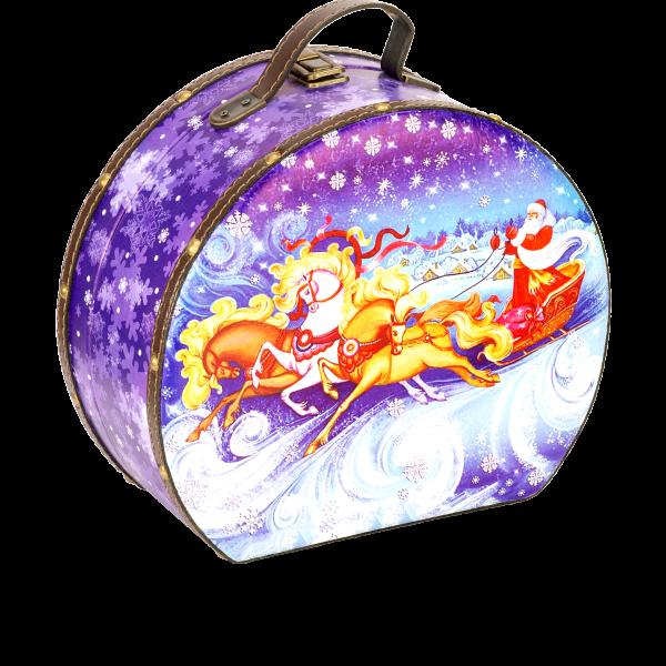 Новогодний подарок Саквояж Снежный стоимостью 2500 руб. и весом 1500 гр.