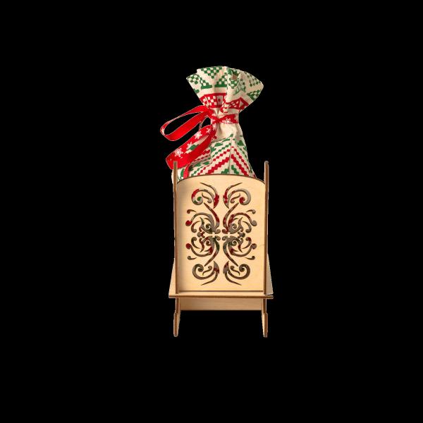 Новогодний подарок Сани стоимостью 750 руб. и весом 500 гр.
