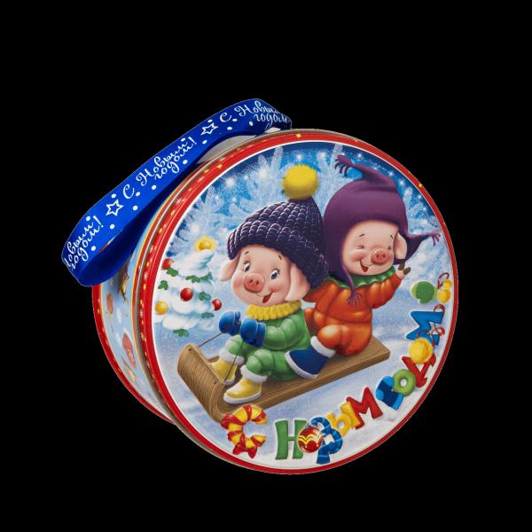 Новогодний подарок Саночки стоимостью 450 руб. и весом 450 гр.