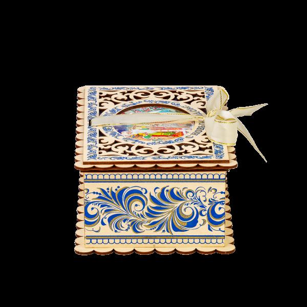 Новогодний подарок Шкатулка Кружева стоимостью 1400 руб. и весом 800 гр.