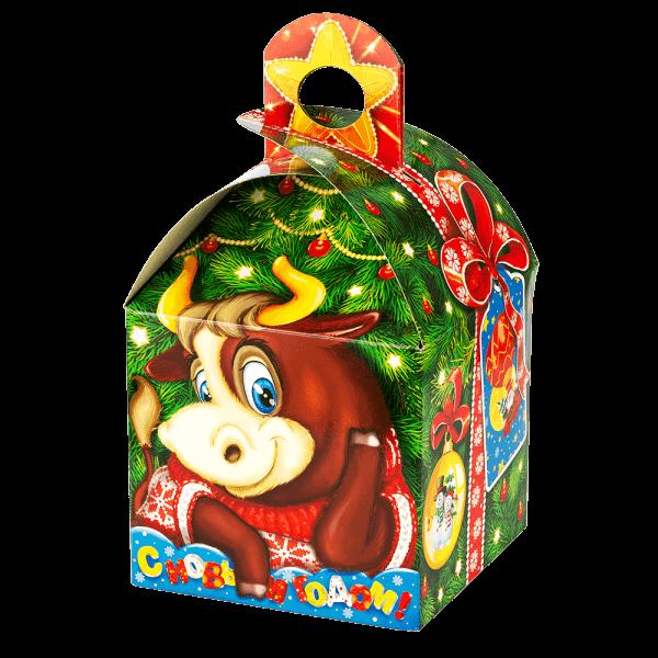 Новогодний подарок Симпатяга Марио стоимостью 400 руб. и весом 800 гр.