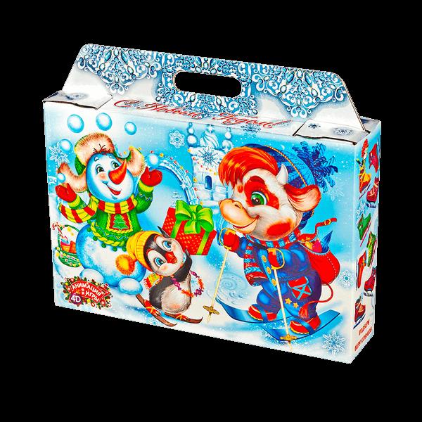 Новогодний подарок Снегопарк стоимостью 520 руб. и весом 1000 гр.