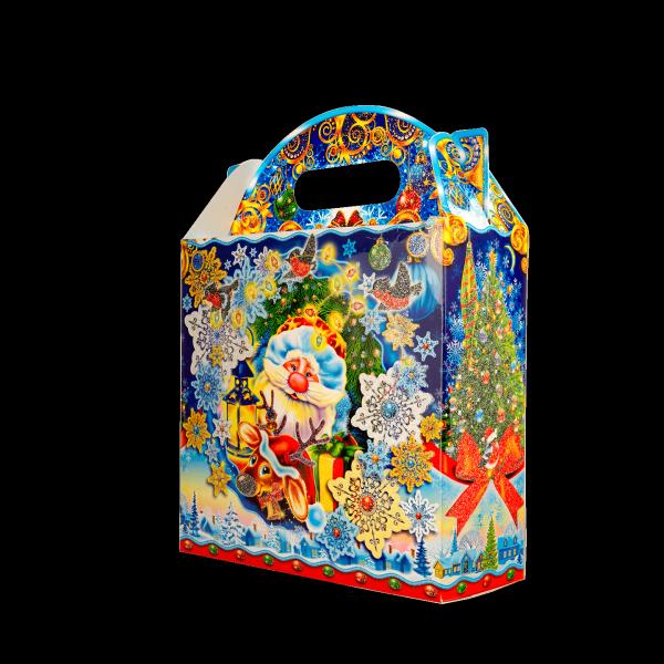 Новогодний подарок Снежинка стоимостью 400 руб. и весом 800 гр.