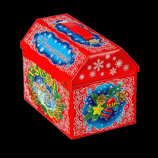 Новогодний подарок Сундук со сказками стоимостью 900 руб. и весом 1000 гр.