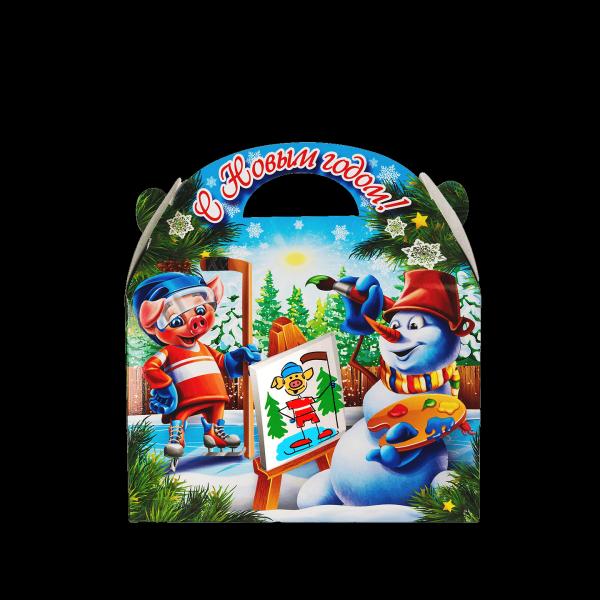Новогодний подарок Зимний спорт стоимостью 350 руб. и весом 700 гр.